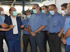 بازدید مدیر عامل محترم شرکت برنز از خطوط تولید در تاریخ اول شهریورماه