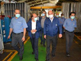 بازدید مدیر عامل محترم شرکت برنز از خطوط تولید و سایر واحد در تاریخ چهاردهم شهریورماه
