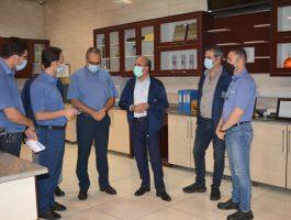 بازدید مدیر عامل محترم شرکت برنز از خطوط تولید و سایر واحد در تاریخ چهارم مهرماه