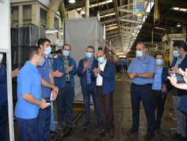 بازدید مدیر عامل محترم شرکت برنز از خطوط تولید و سایر واحد در تاریخ یازدهم مهرماه